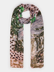 Guess Animalier Print Scarf