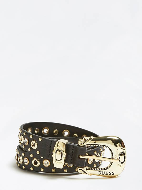 Guess Applique Detail Belt - Black