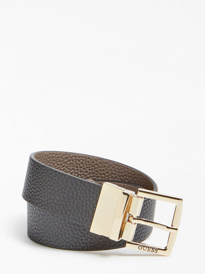 Guess Alby Reversible Belt - Black/Iron