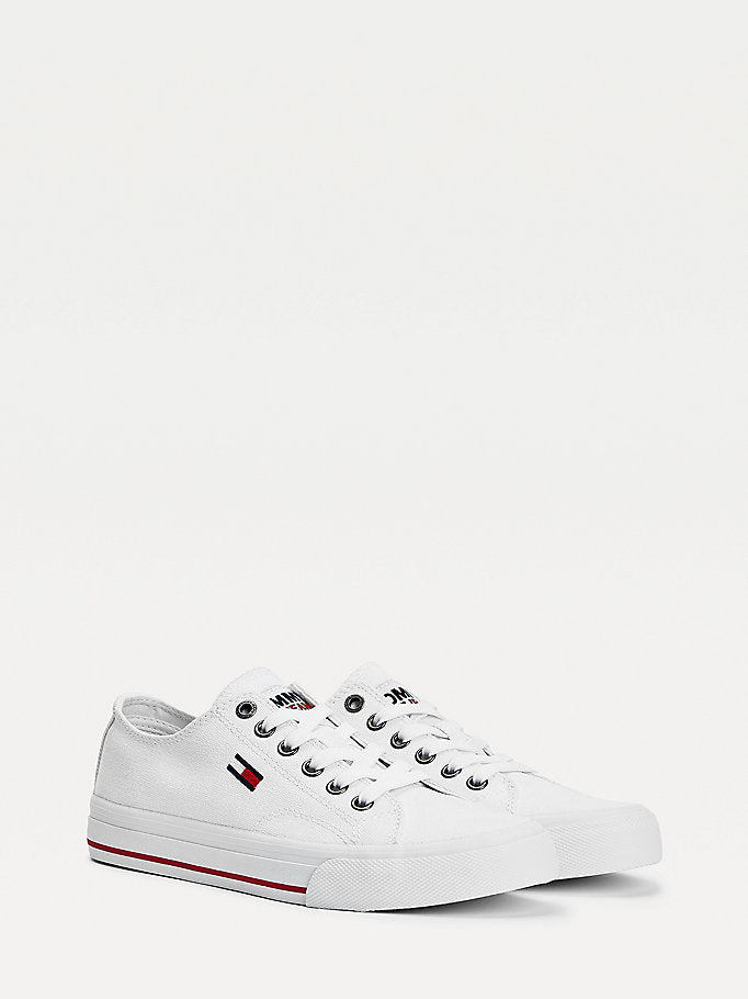 Tommy Hilfiger Low Top Flag Trainers - White