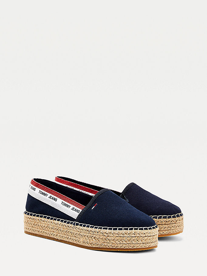 Tommy Hilfiger Repeat Logo Flatform Espadrilles - Twilight Navy