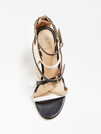 Guess Kaira Real Leather Sandal - Black