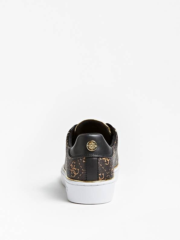 Guess Banq Active Lady Leather Like Sneaker - Brown