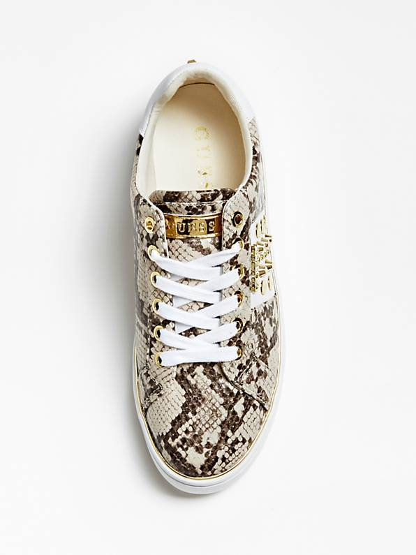Guess Brandia Active Lady Leather Like Sneaker - Light Natural