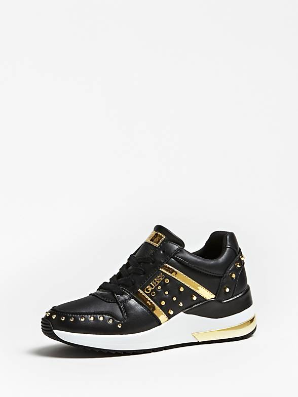 Guess Joydee Active Lady Leather Like Sneaker - Black