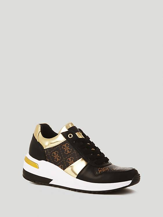 Guess Janett Active Lady Fabric Sneaker - Brown
