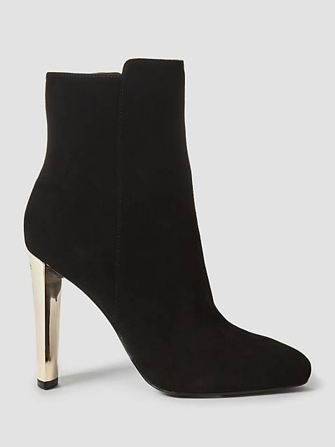 Guess Kitty Stivalett Suede Boot - Black