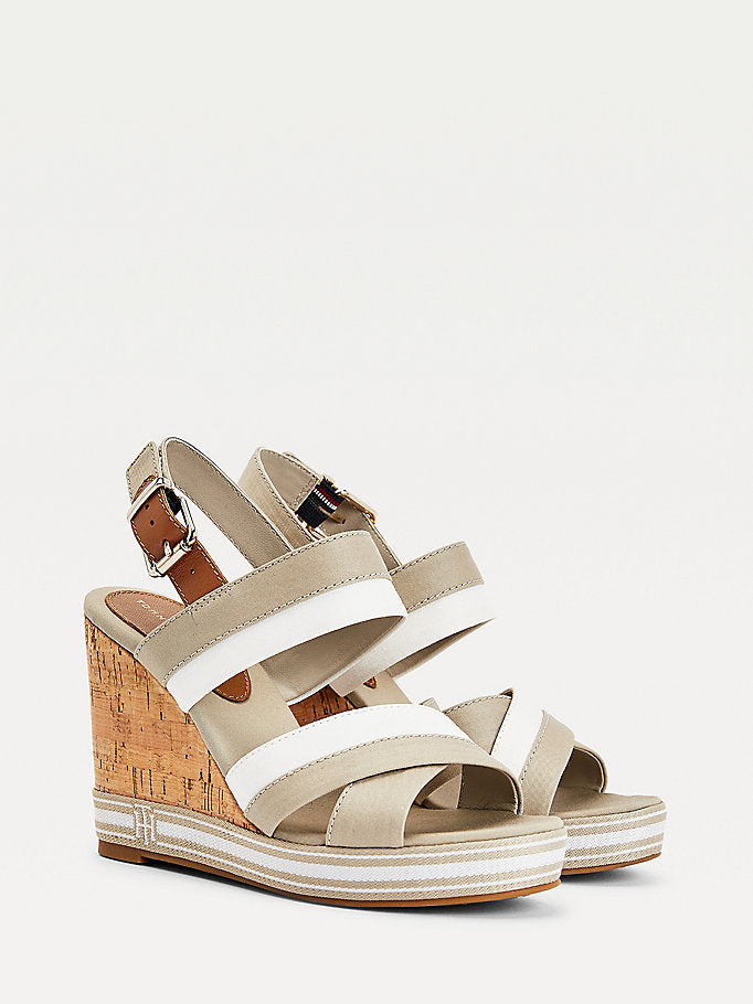 Tommy Hilfiger Essential Monogram Wedges - Beige