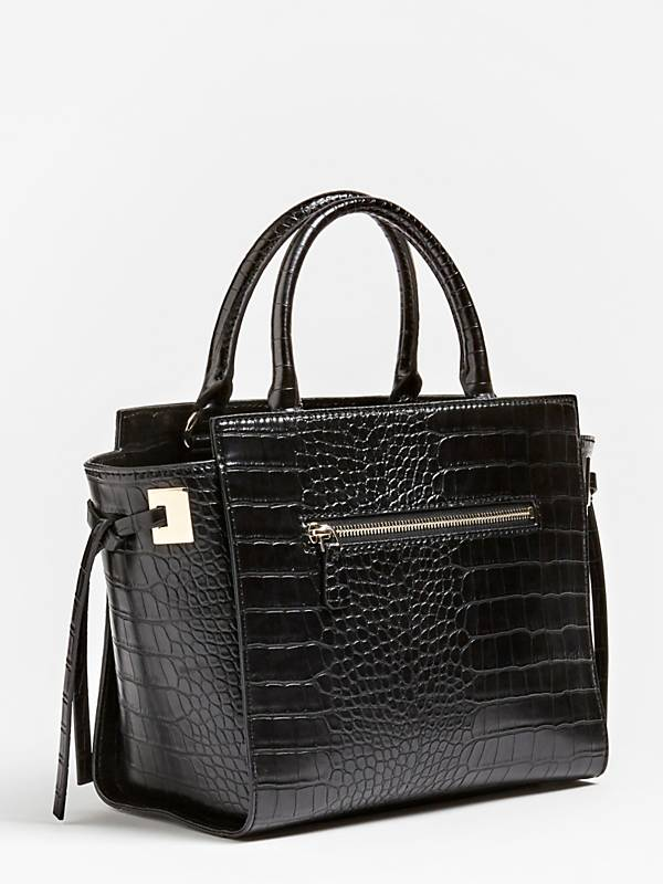 Guess Open Road Society Satchel - Black