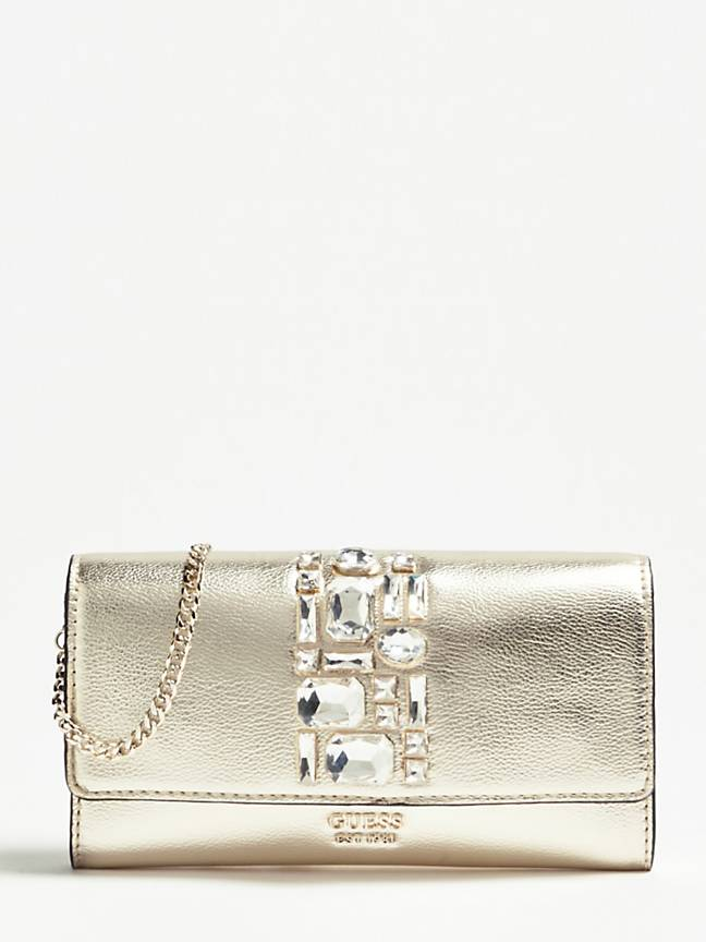 Guess Spring Fever Clutch - Gold
