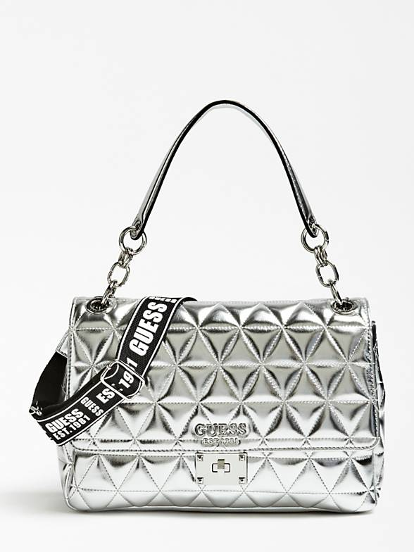 Guess Laiken Shoulder Bag - Silver