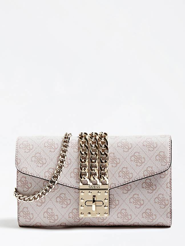Guess Prisma Clutch Mini - Stone