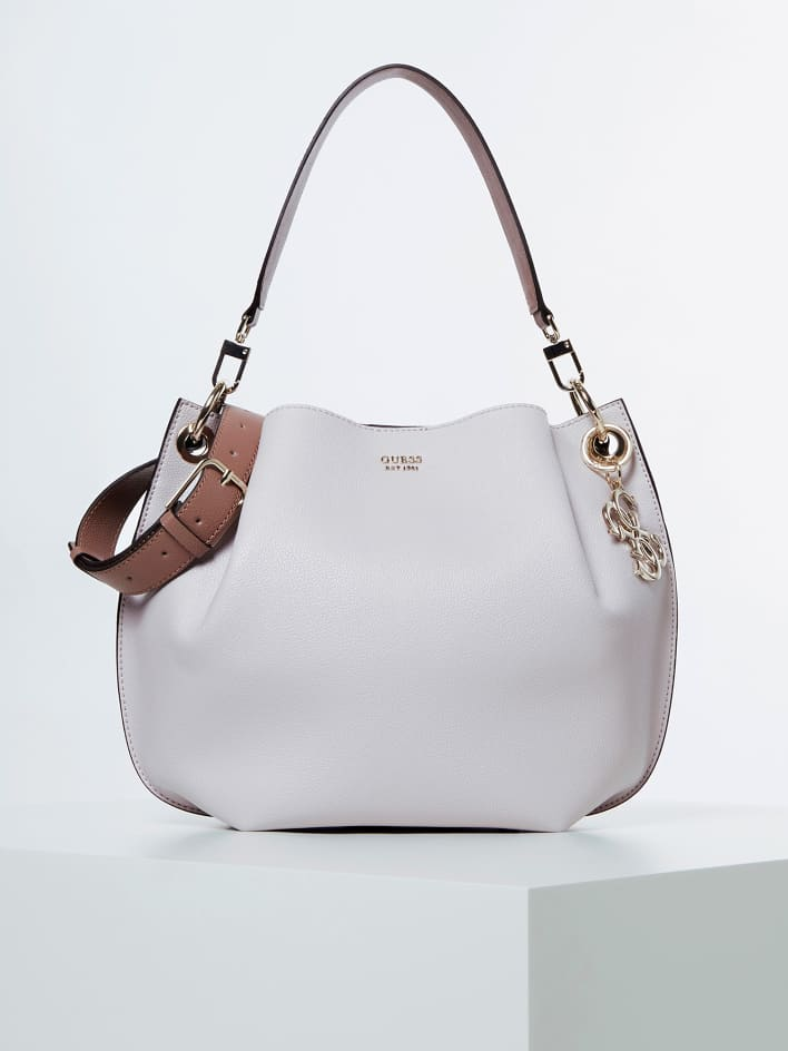 Guess Digital Hobo Handbag - Moonstone Multi