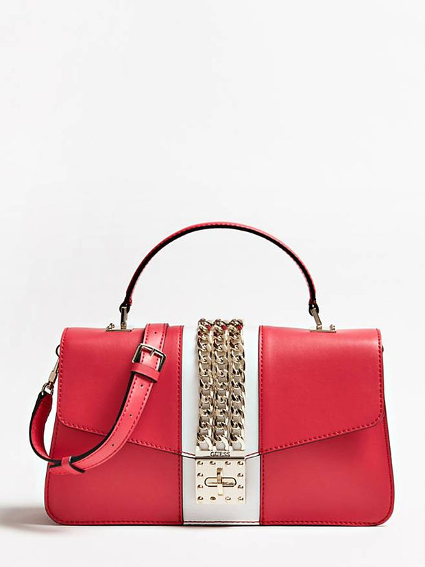 Guess Prisma Top Handle Flap - Red