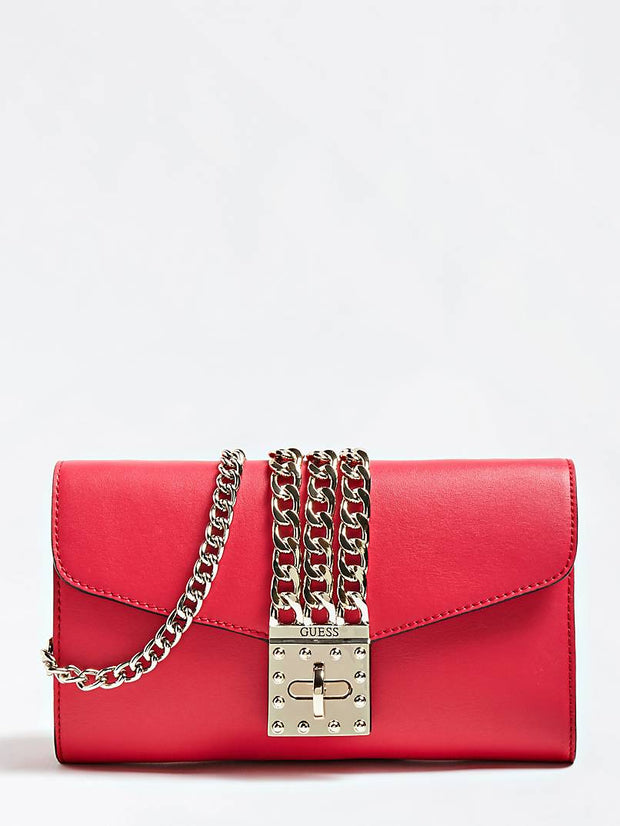Guess Prisma Clutch Mini - Red