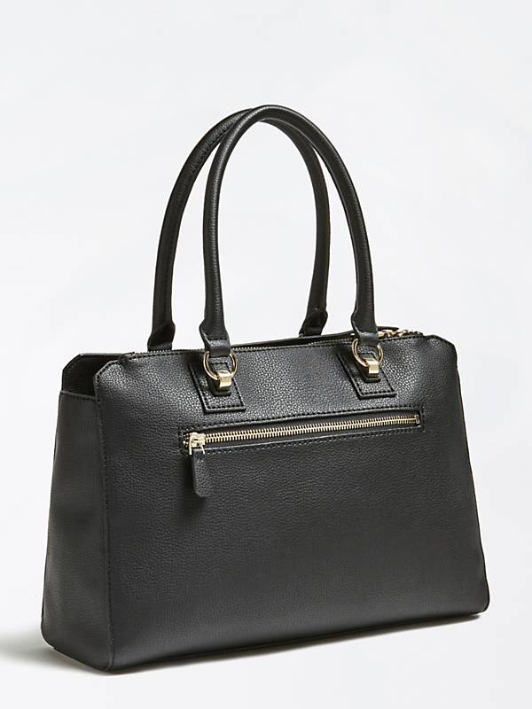 Guess Alma Society Satchel - Black