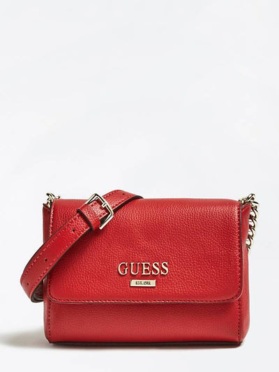 Guess Alma Mini Crossbody Flap - Red