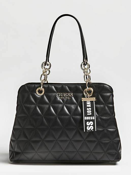 Guess Laiken Girlfriend Satchel - Black