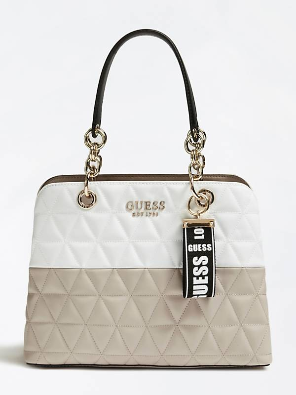 Guess Laiken Girlfriend Satchel - White Multi