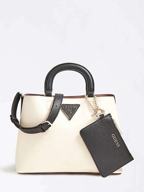 Guess Aretha Girlfriend Satchel - Stone Multi
