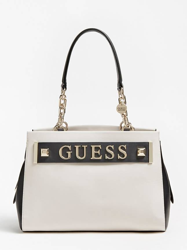 Guess Kerrigan Girlfriend Carryall - Stone Multi