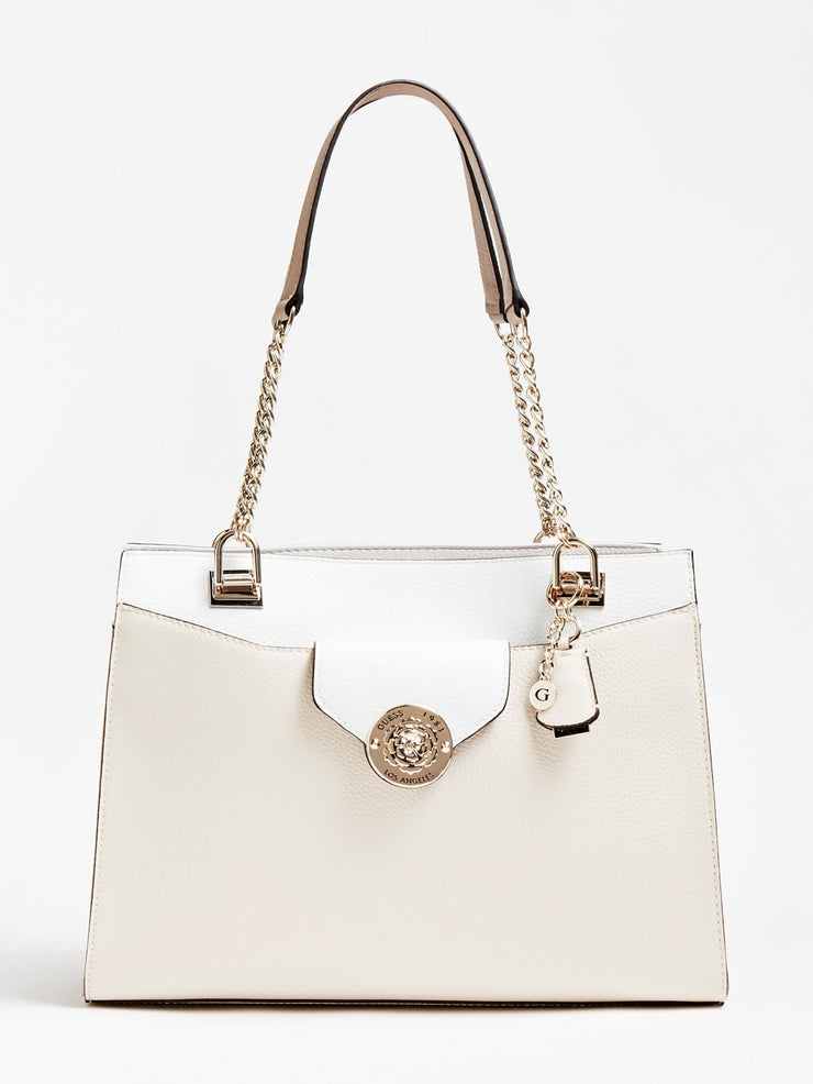 Guess Belle Isle Society Carryall - Stone Multi