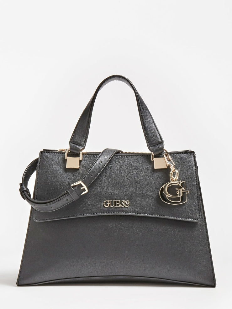 Guess Dalma Girlfriend Satchel - Black