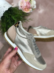 Platine Mix Trainers - Gold