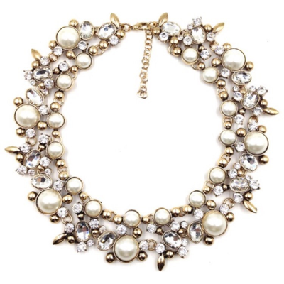 Augusta Cream Chunky Necklace