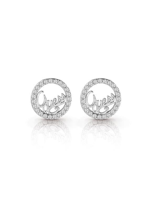 Guess Authenic Stud Earrings - Silver