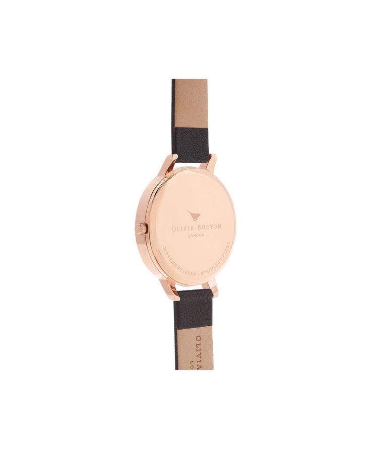 Signature Floral Black & Rose Gold Watch - WG12