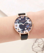 Bejewelled Rose Gold Watch - BF04
