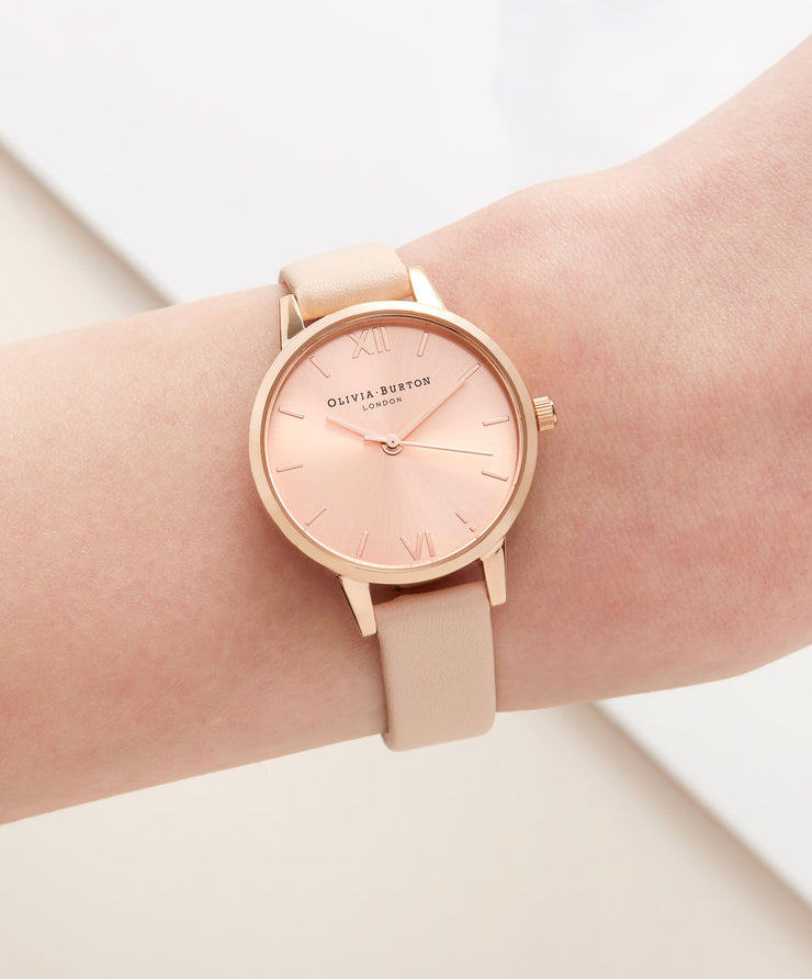 Case Cuff Nude Peach & Rose Gold Midi Dial Watch - CB11