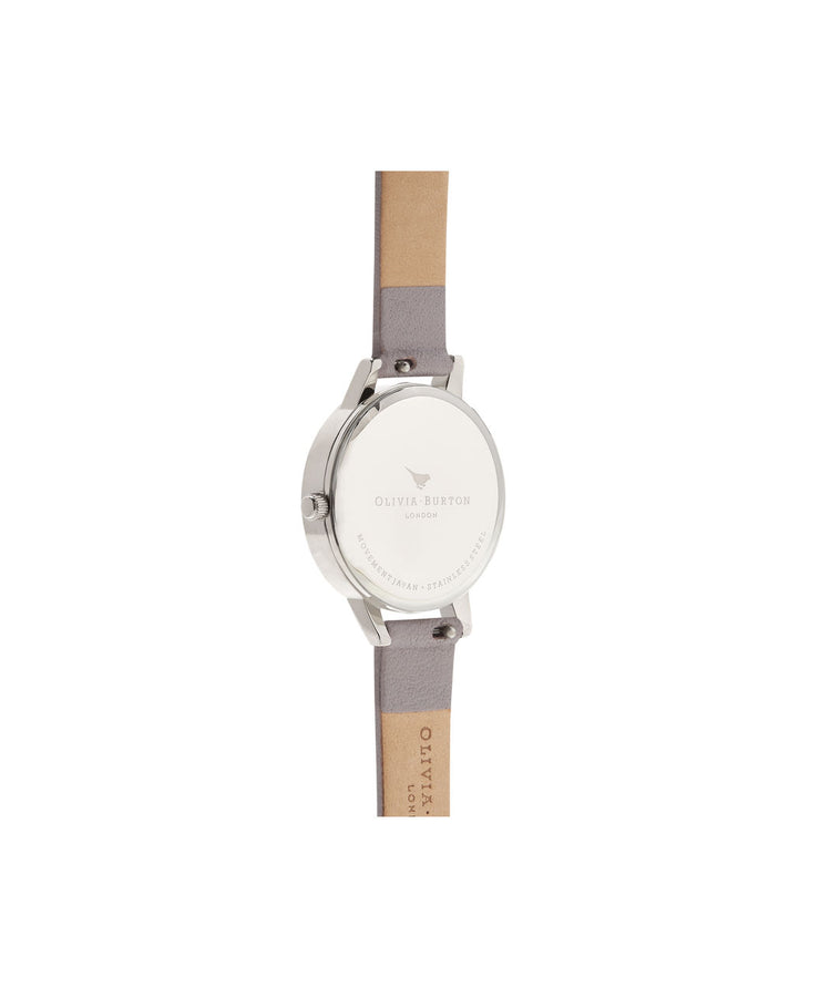 Glasshouse Grey Lilac Rose Gold & Silver Watch - EG104