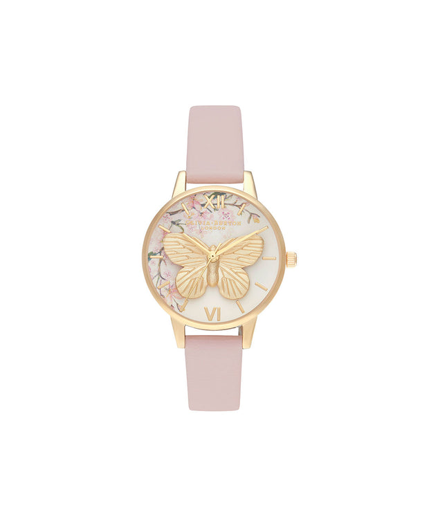 Pretty Blossom 3D Butterfly Vegan Rose & Gold