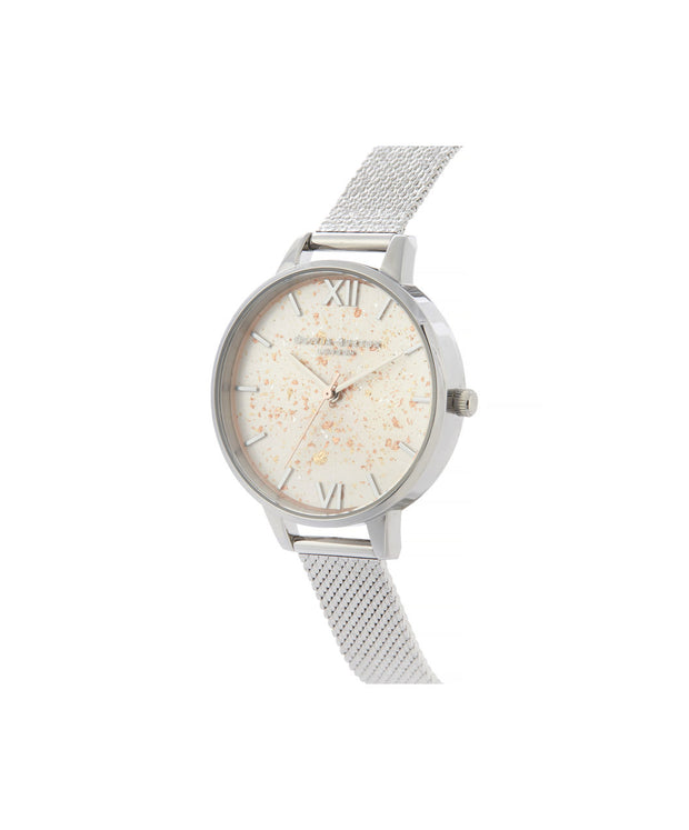 Celestial Demi Dial Watch with Boucle Mesh Strap - GD14