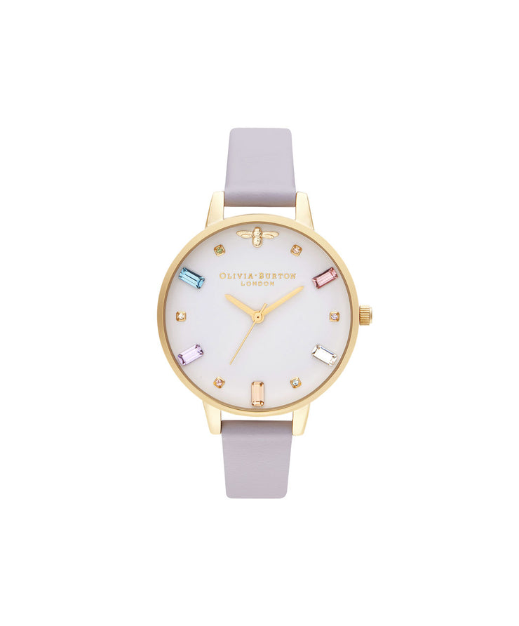 Ladies Rainbow Bee Demi Parma Violet & Gold Watch - RB11