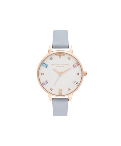 Ladies Bee Demi Chalk Blue & Rose Gold Watch - RB12