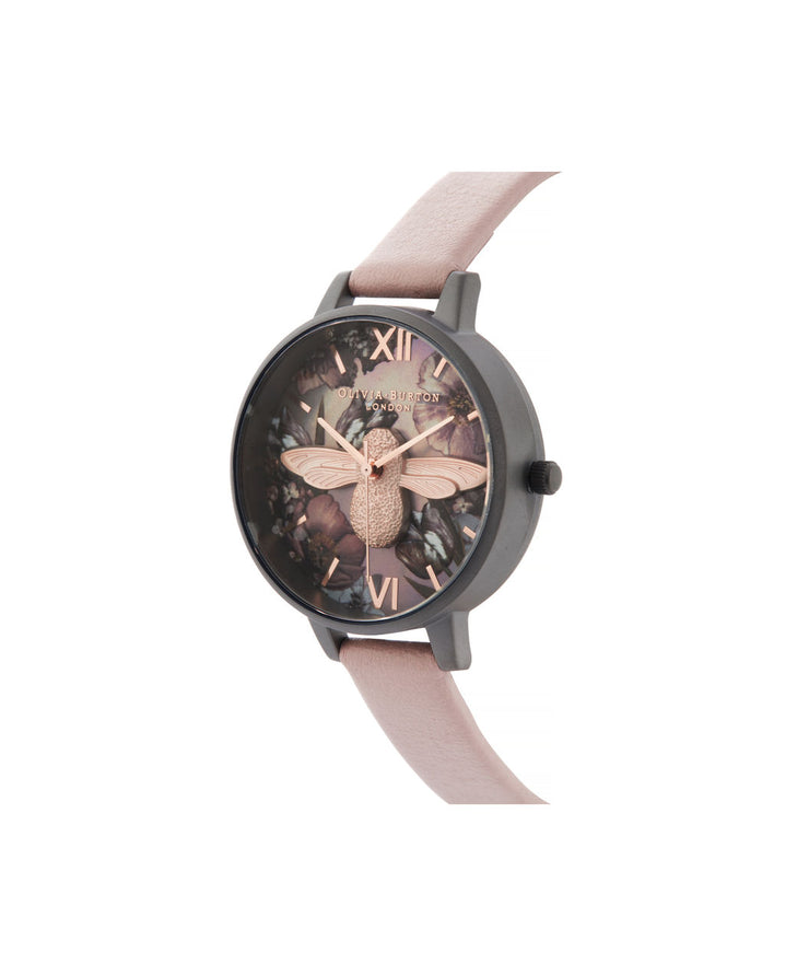 Twilight Demi Dial Watch With Lilac Mother of Pearl - TW02