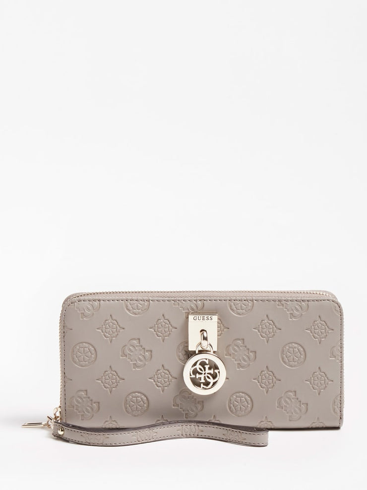 Guess Ninnette Zip Around Purse - Taupe