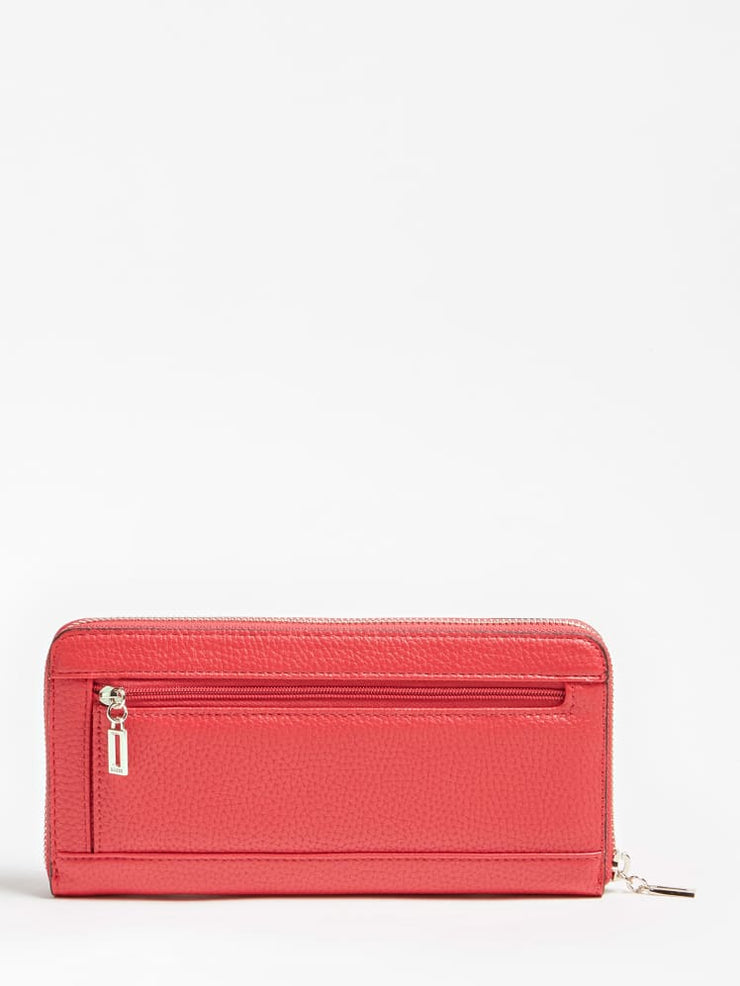 Guess Becca Zipper Pull Purse - Red