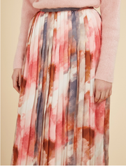 Ebrar Skirt - Red Tie-Dye