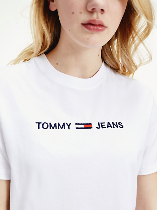 Tommy Hilfiger Modern Linear Logo Tee - White