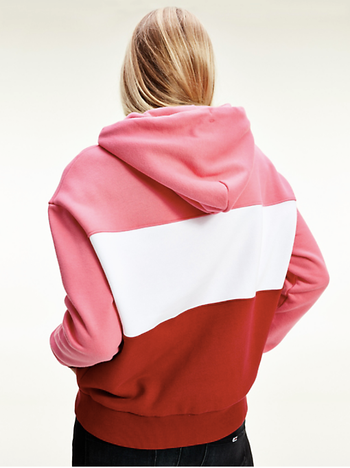 Tommy Hilfiger Colourblock Hoodie - Wine Red Multi