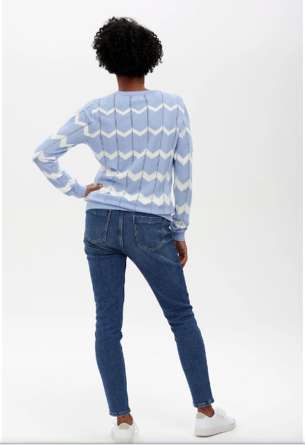 Rita Jumper - Blue Chevron