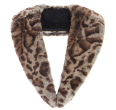 Jaguar Faux Fur Long Collar
