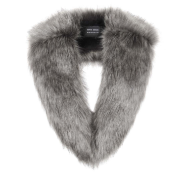 Lady Grey Faux Fur Long Collar