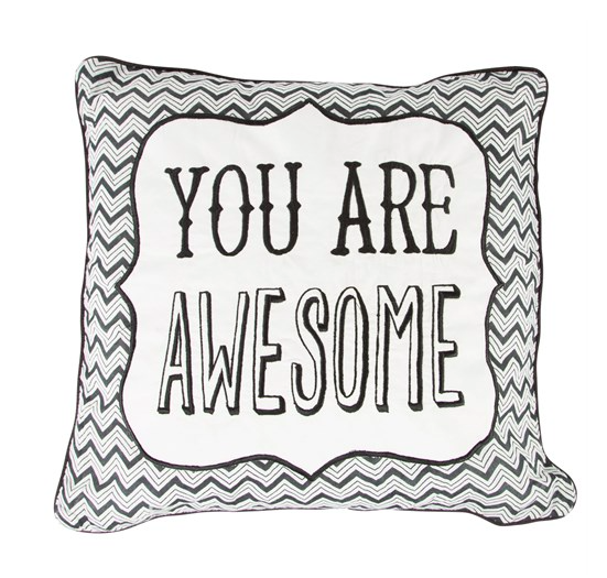 Awesome Metallic Monochrome Cushion