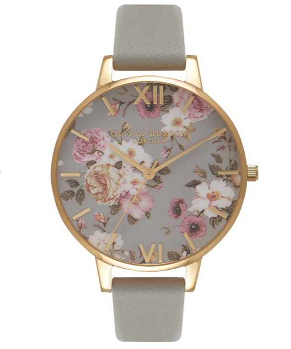 Flower Show Big Dial Grey And Gold Watch - FS81