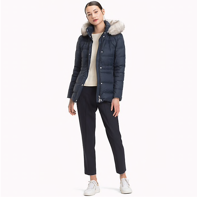 Tommy Hilfiger Tyra Padded Duck Down Jacket - Navy